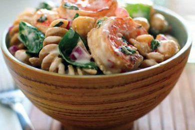 Ricette light: pasta con gamberetti e menta