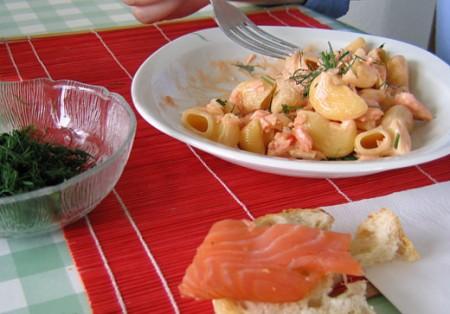Ricette per bambini: pasta al salmone