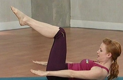 pilates addominali braccia