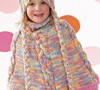 Schemi maglia: poncho da bambina