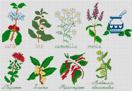 schemi fiori