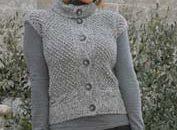 Schemi maglia: gilet in lana