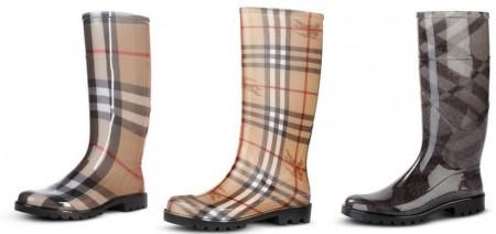 stivali di gomma burberry