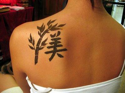 tatuaggio cinese schiena