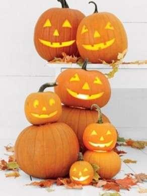 zucche di halloween decorate