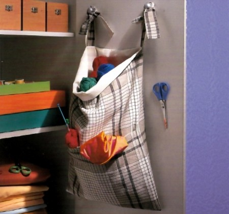 Cucito creativo: un pratico tascone a muro