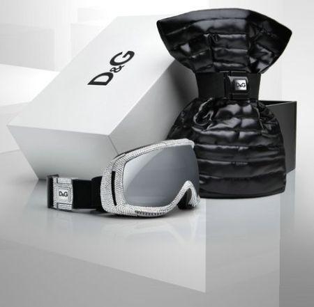 Accessori da neve D&G: maschera da sci con swarovski