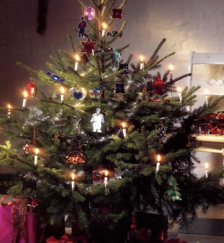 Decorazioni natalizie carta argentata