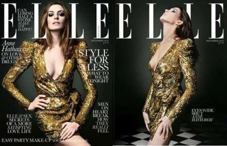 Anne Hathaway in Balmain per Elle
