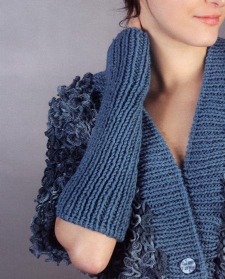 Lavori a maglia: guanti aperti fai da te