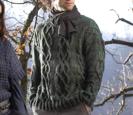 Lavori a maglia: pullover da uomo fai da te