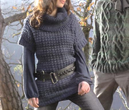 Pullover lungo maglia
