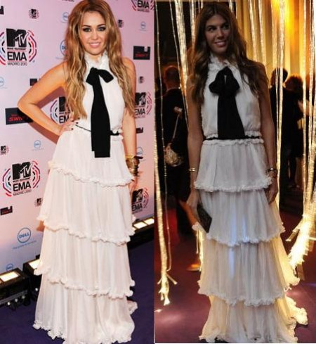 Abito D & G: meglio Miley Cyrus o Bianca Brandolini D'Adda?
