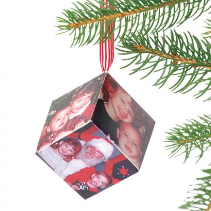 Addobbi natalizi: i cubi con le foto di famiglia