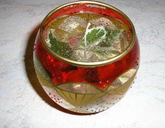 Addobbi Natalizi: candela in gel fai da te