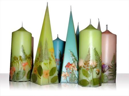 candele fiori