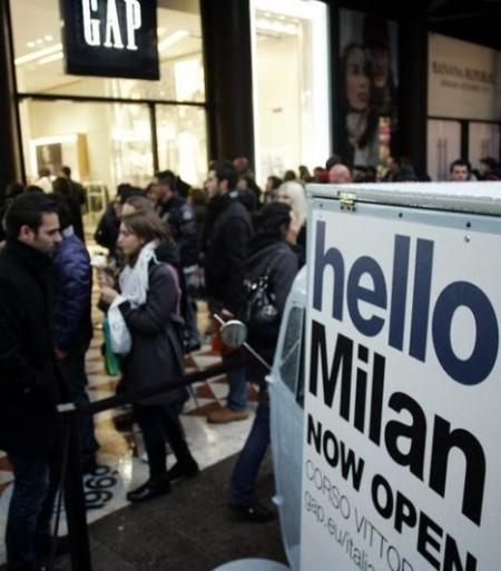 gap milano store