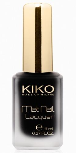Smalti Kiko, il nero Mat Nail Lacquer