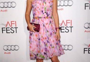 Natalie Portman, bellissima con abito a fiori Rodarte