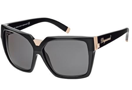 occhiali neri dsquared2