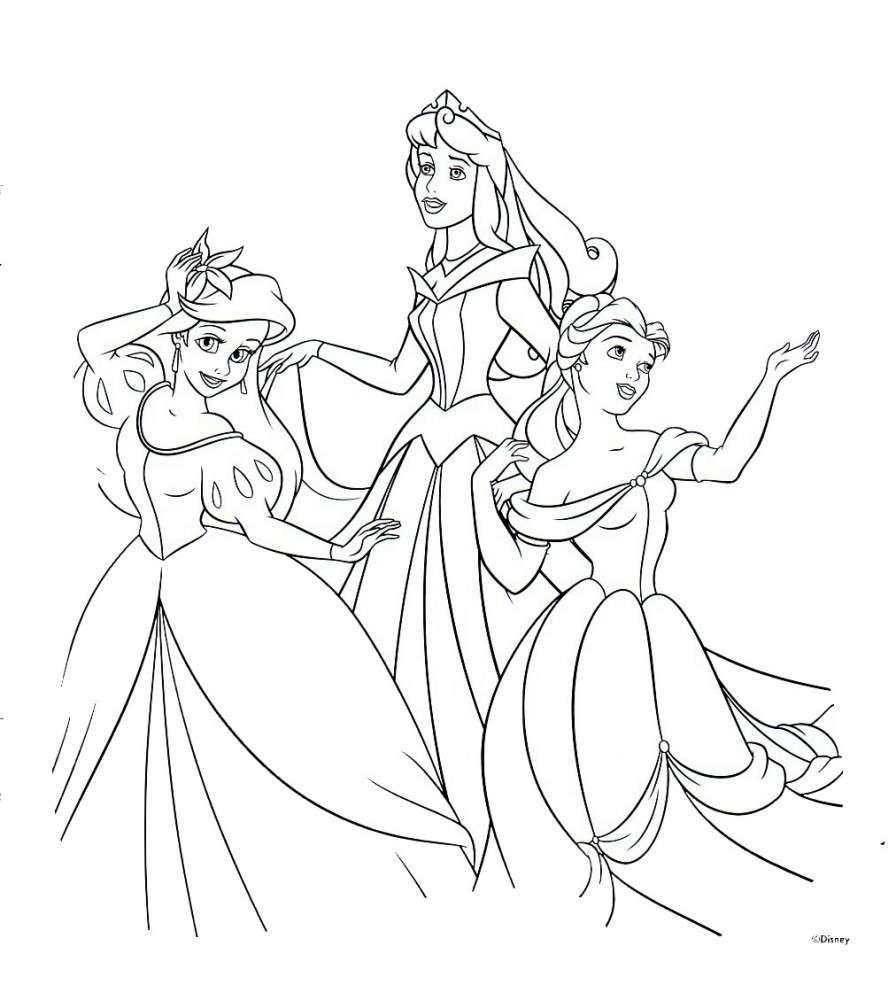 Principesse Disney Giochi E Immagini Da Colorare Pourfemme