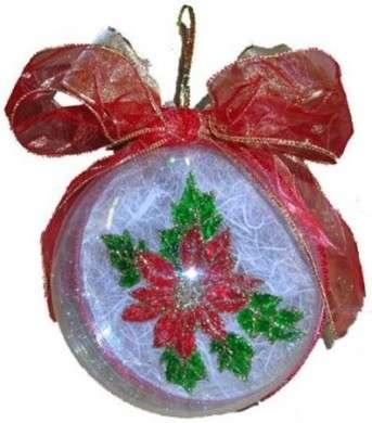 Addobbi natalizi: sfere decorate con il decoupage