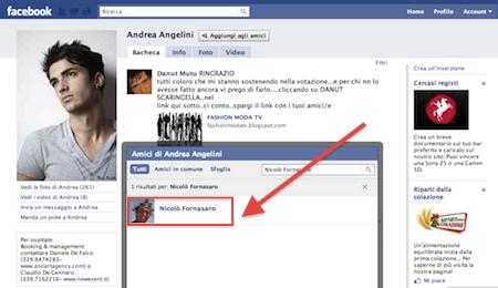 vip su facebook amici in comune