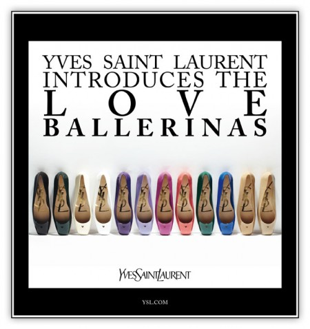 Yves Saint Laurent, la collezione Love Ballerinas