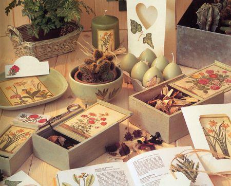 Decoupage su legno tante idee per le tue creazioni - Decoupage su mobili in legno ...