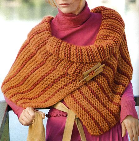 Lavori a maglia coprispalle colorato