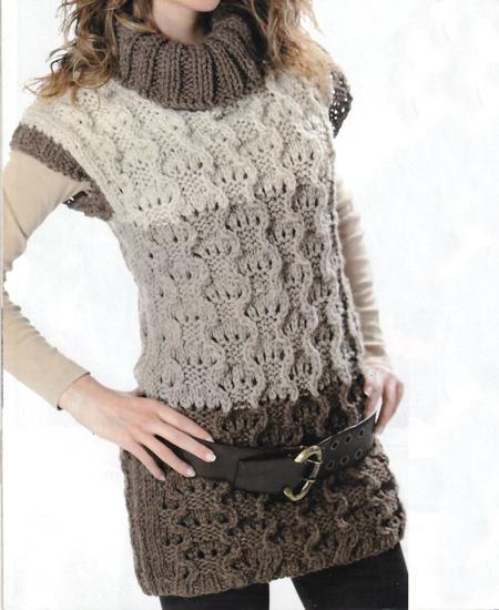 Lavori a maglia: gilet a collo alto