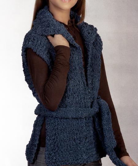 Lavori a maglia: un gilet lungo fai da te