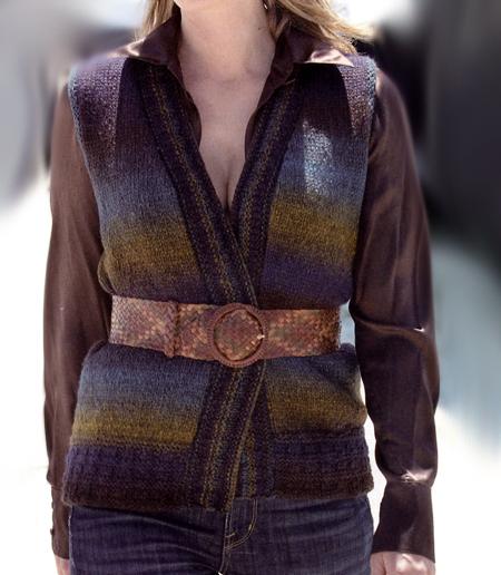 Lavori a maglia: un gilet primaverile