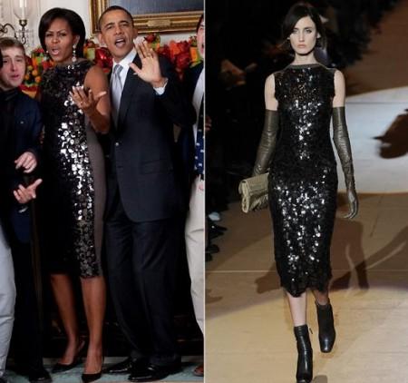 Michelle Obama con un abito Marc Jacobs
