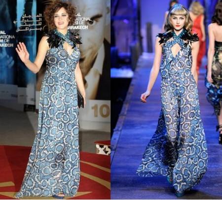 Christian Dior: Marion Cotillard sceglie il maculato azzurro