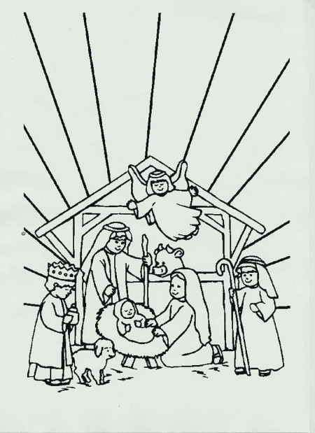 I disegni di natale per bambini il presepe da stampare e for Disegni facili di natale