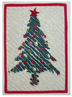 Decorazioni natalizie, l'albero in ciniglia