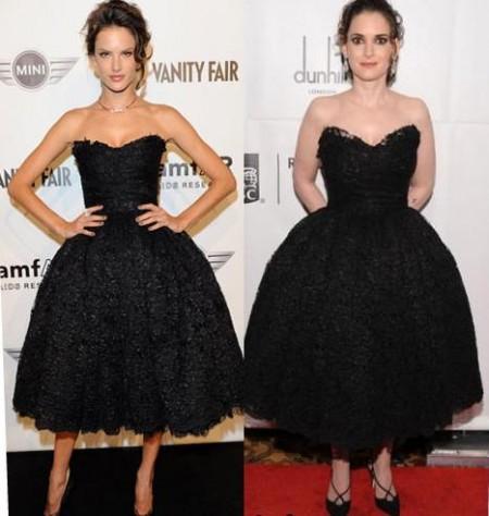 Abito Dolce & Gabbana: Alessandra Ambrosio o Winona Ryder?