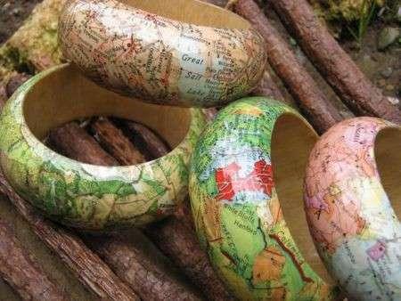 Decoupage: come si decorano i bracciali bangles