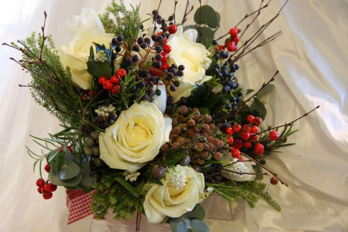 bouquet sposa invernale bacche