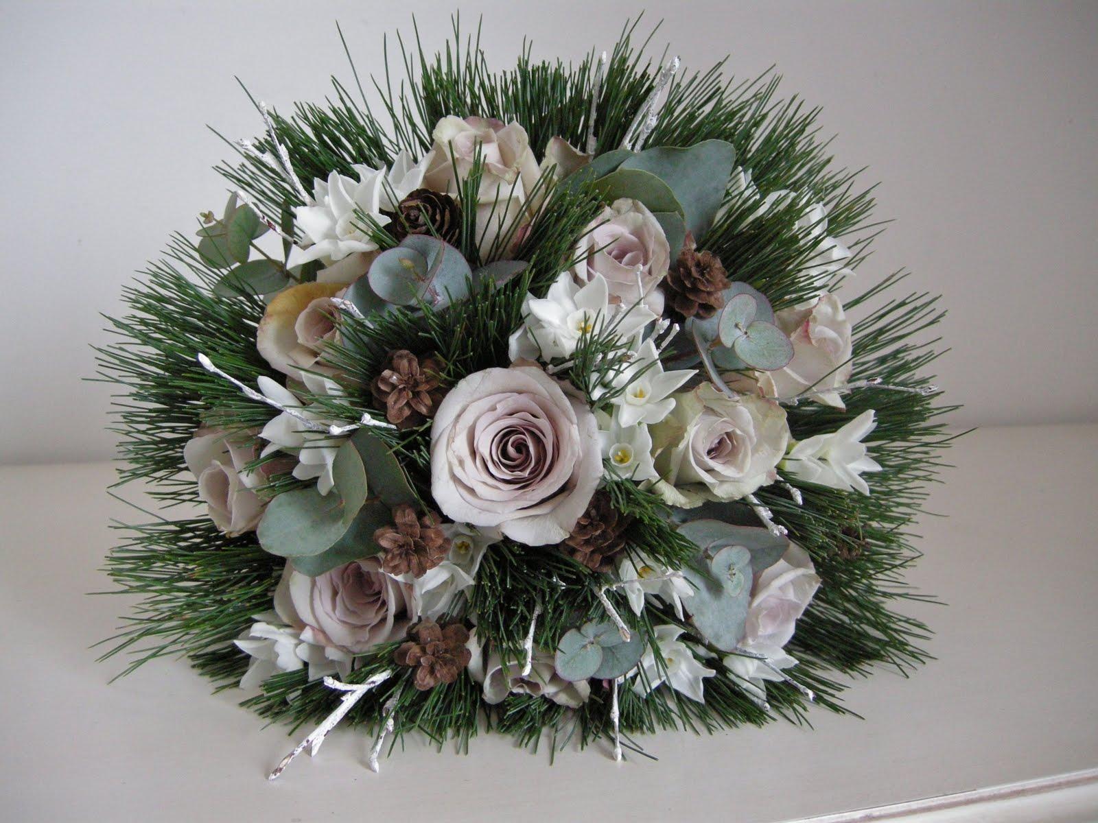 bouquet sposa invernale pino