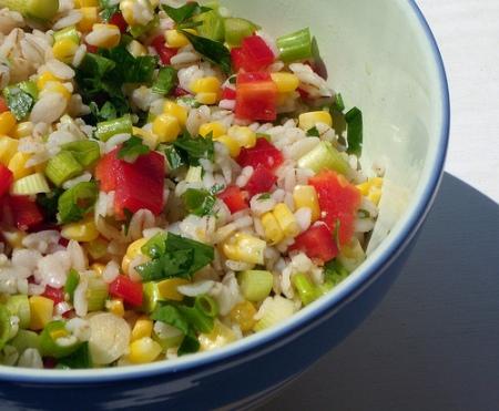Ricette light: insalata di mais e farro