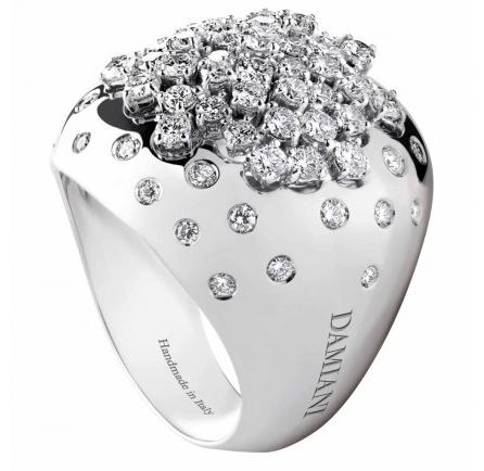Damiani gioielli: anello Paradise in oro e diamanti