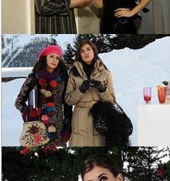 """Elisabetta Canalis veste Patrizia Pepe nel film """"A Natale mi Sposo"""""""