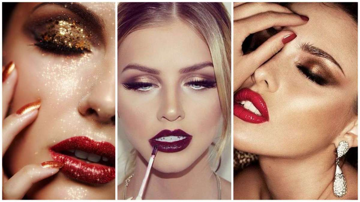 Makeup di Natale oro intenso, per serate brillanti