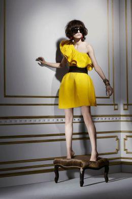 lanvin hm fall abito giallo