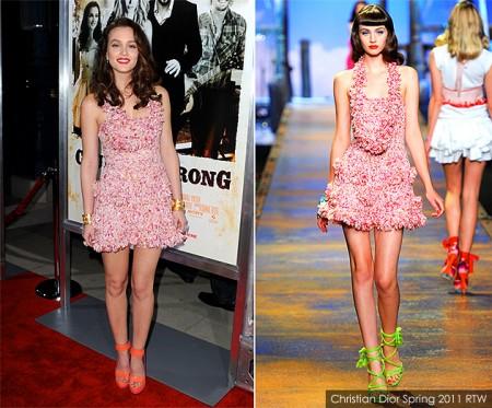 Leighton Meester veste la primavera di Christian Dior