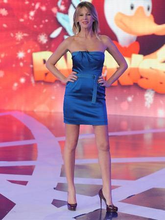 Alessia Marcuzzi con un abito Alberta Ferretti