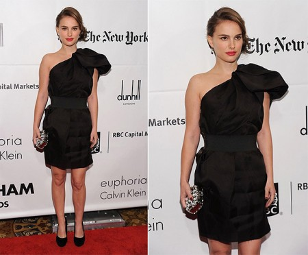 Natalie Portman con un abito Lanvin for H&M