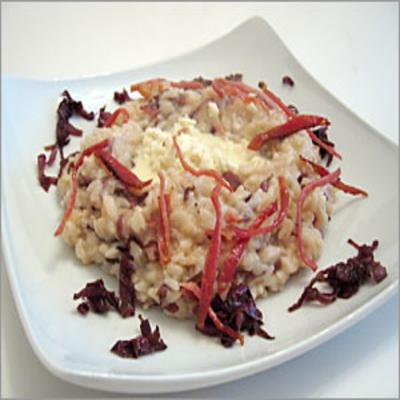 Ricette light Natale: risotto al trevisano